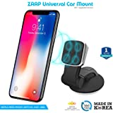 ZAAP®(USA) MAGNETIC TOUCH TWO (3rd Generation) Premium Car Mount Interior Fittings /Desk Mount/Car mobile holder [Award Winning--Made in KOREA] Universal compatible for Smartphones with 360 degree rotation & fully adjustable view. Perfect for Car & desk Mounting. Mobile holder (Black, Car accessories)