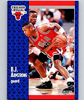 Amazoncom 1991 92 Fleer 25 Bj Armstrong Bulls Nba Basketball