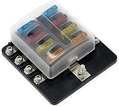 Ahomi caja de fusibles, caja de fusibles de 8 vías, soporte de ...
