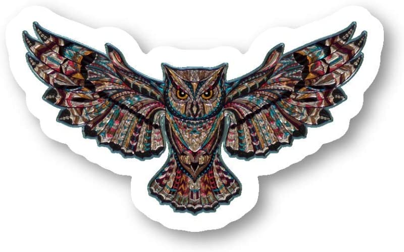 Owl Sticker Colorful Owls Stickers - 3 Pack - Set of 2.5, 3 and 4 Inch Laptop Stickers - for Laptop, Phone, Water Bottle (3 Pack) S214472