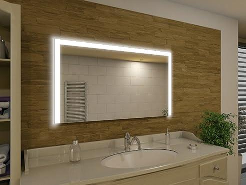 Badspiegel mit Beleuchtung Seattle M91L3: Design Spiegel für ...