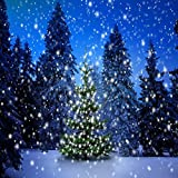 GladsBuy Shiny Christmas Tree 8' x 8' Computer Printed Photography Backdrop Christmas Theme Background LMG-188