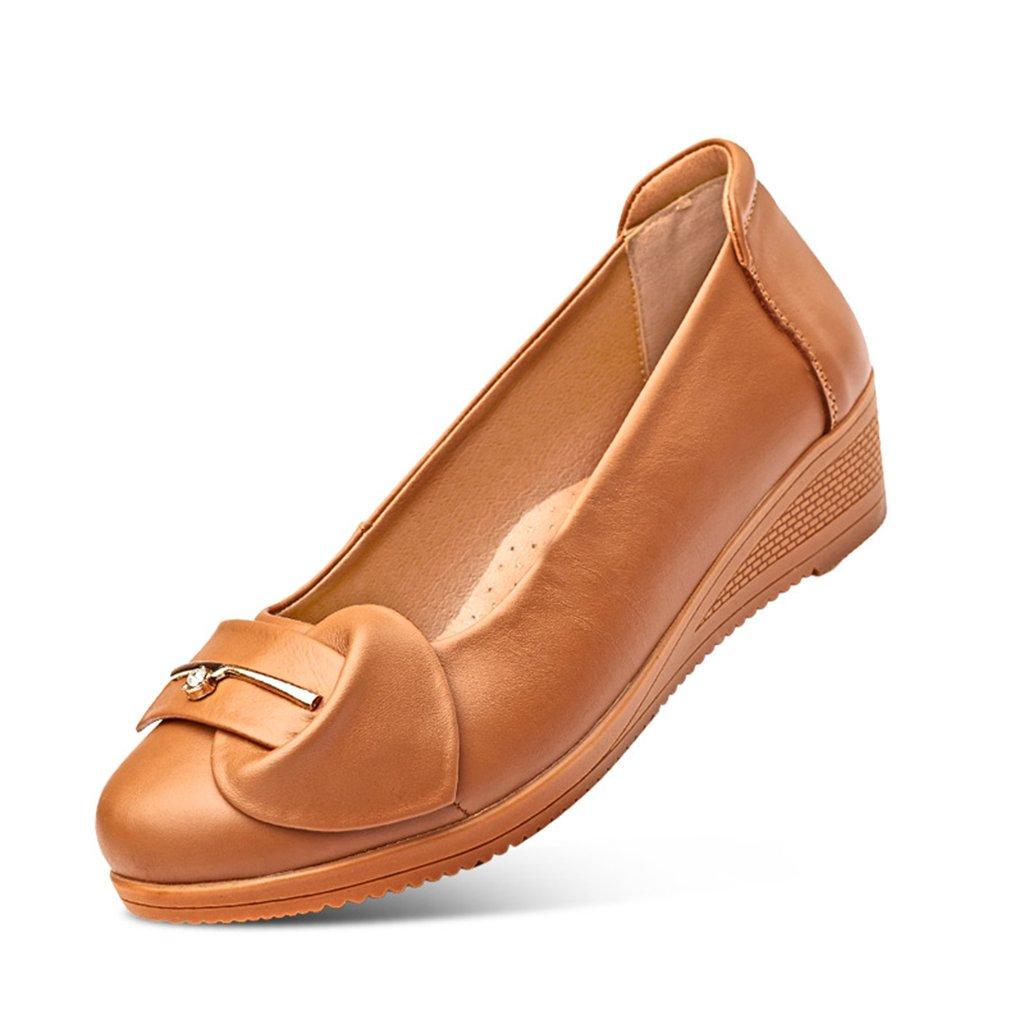 4d0d33b4 ZCJB Cabeza Redonda Mediana Edad Zapatos De Gran Tamaño De La Mujer Zapatos  De Mamá Fondo