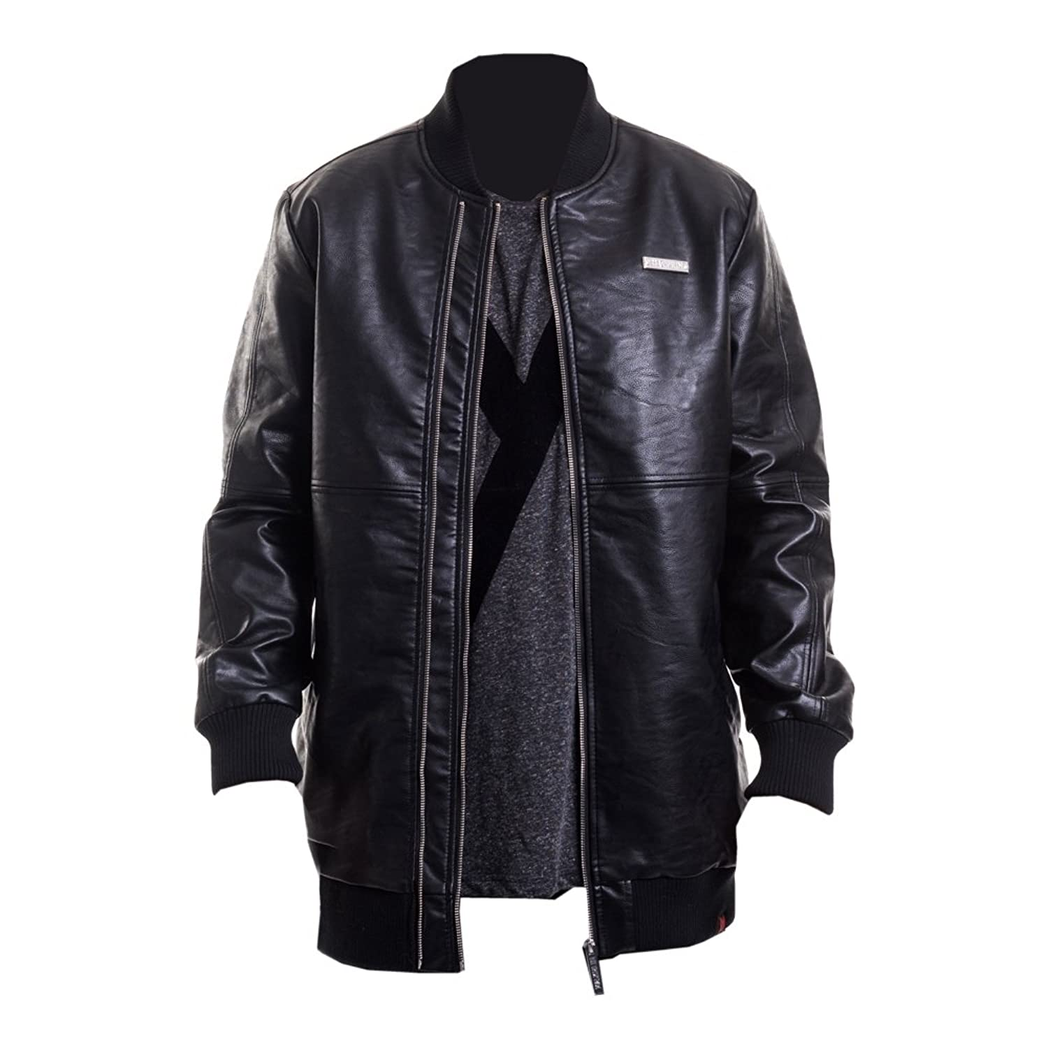 Maskulin Long Leather Jacket