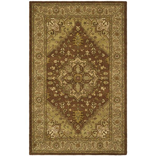 Safavieh Heritage Collection HG345A Handcrafted Traditional Oriental Rust and Gold Wool Area Rug 7 6 x 9 6