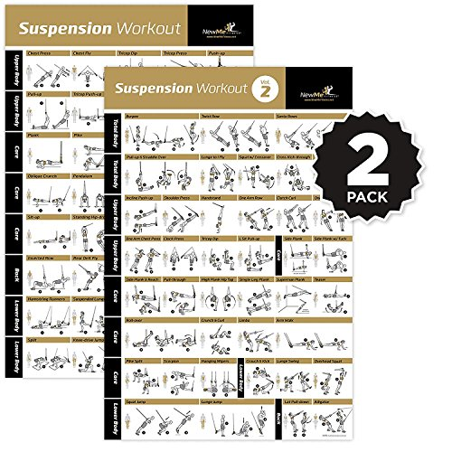 NewMe Fitness VOL 1+2 SUSPENSION EXERCISE POSTER 2-PACK - La