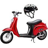 Razor Pocket Mod 24V Electric Scooter (Red)& Youth Sport Helmet (Black)