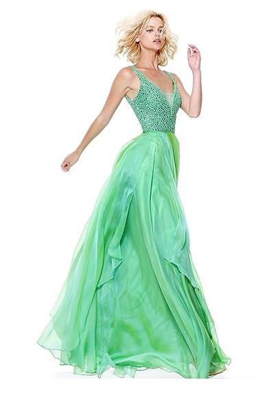 e049a3975565 Sherri hill Abito Lungo Verde 42: Amazon.it: Abbigliamento