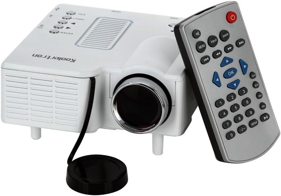 Koolertron Mini Proyector portátil 80 Ansil multimedias de los ...