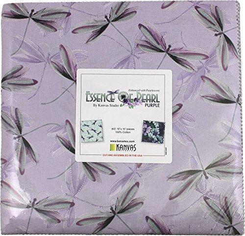 - Essence of Pearl Purple Layer Cake 42 10-inch Squares Benartex Fabrics