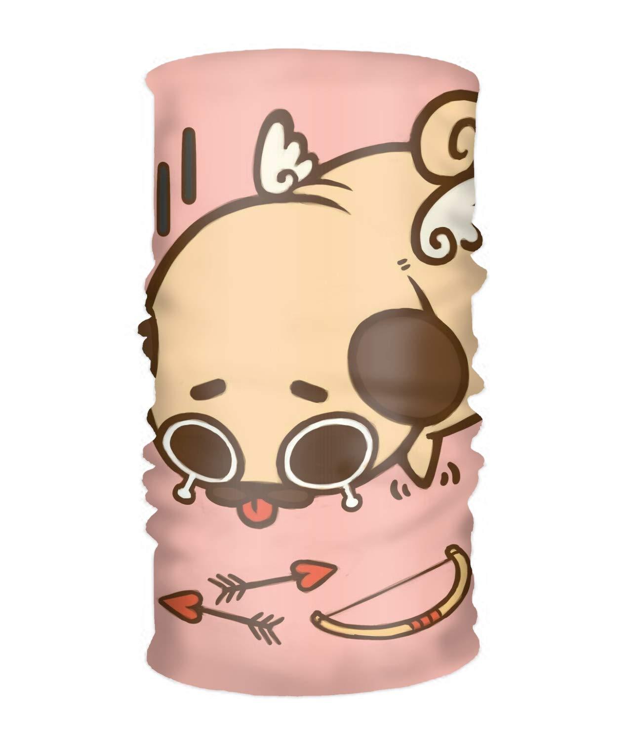Pug Love Face Mask,Magic Scarf, Tube Mask, Face Bandana Mask
