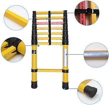 ACZZ Escalera telescópica de fibra de vidrio, escalera de extensión liviana plegable de uso múltiple para uso en exteriores/industrial/emergencia, carga de 150 kg,3M: Amazon.es: Bricolaje y herramientas