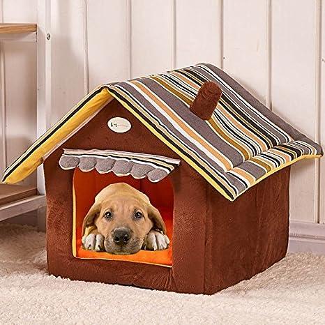 Top SHOP Caseta plegable de peluche con forma de casa para perros y gatos Talla L 50 x 40 cm).: Amazon.es: Productos para mascotas