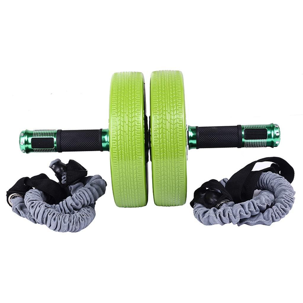 Bauchmuskel-Rad-Satz-Sport-Roller-Bauch-Fitness-Ausrüstungs-Hauptmänner und Frauen-dünner Bauch (Farbe   Grün)