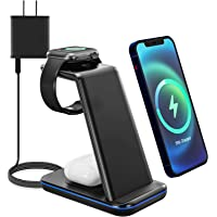 Moing 3 in 1 Wireless Charger Station Stand with QC 3.0 Adapter