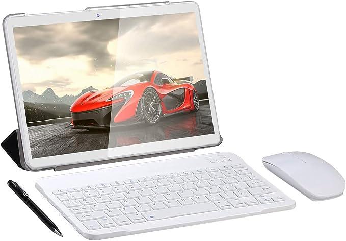 SUMTAB 4G LTE Tablet 10 Pulgadas con Teclado,Android 10.0 Tableta,4 GB de RAM y 64 GB de Memoria,8-Core,WiFi,IPS 1280*800 Display,GPS,Bluetooth,OTG