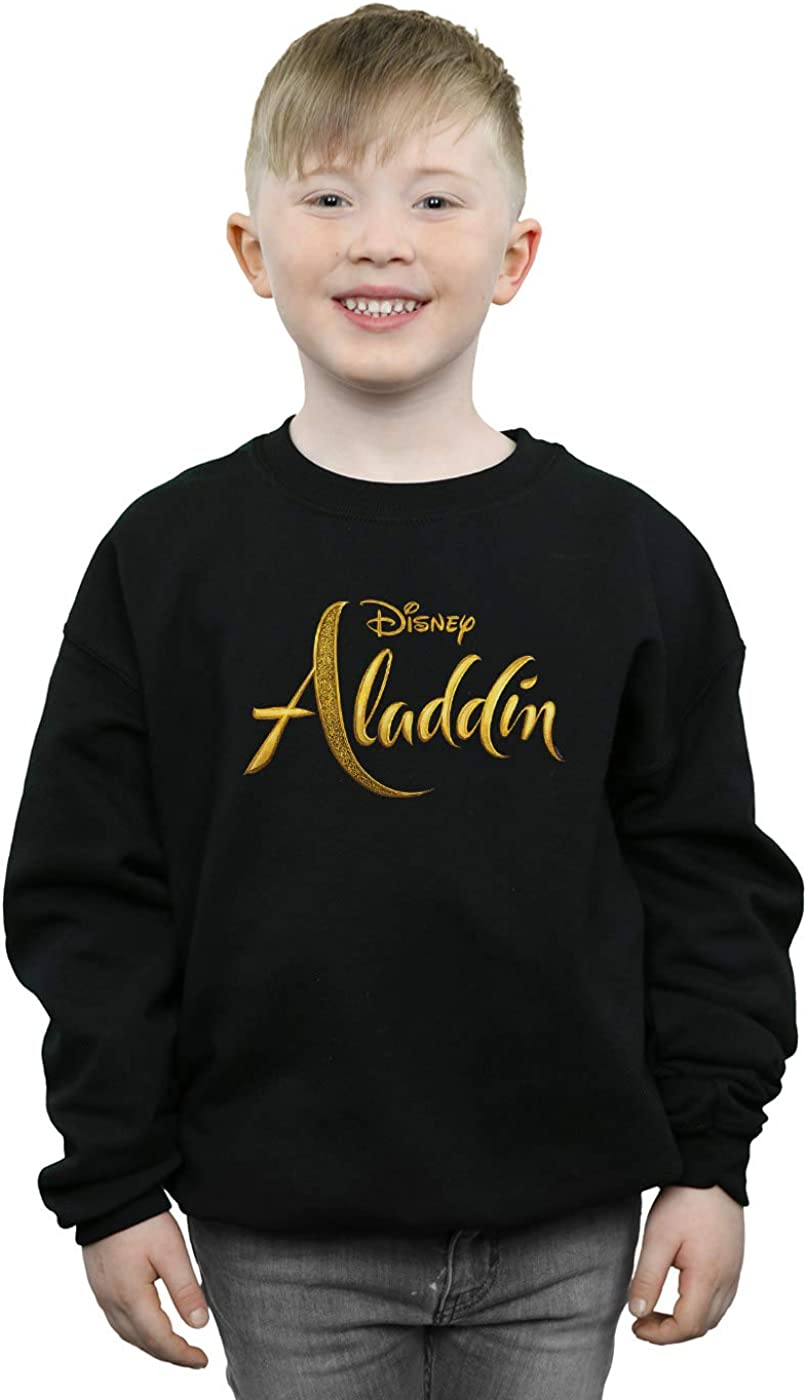Disney Boys Aladdin Movie Logo Sweatshirt