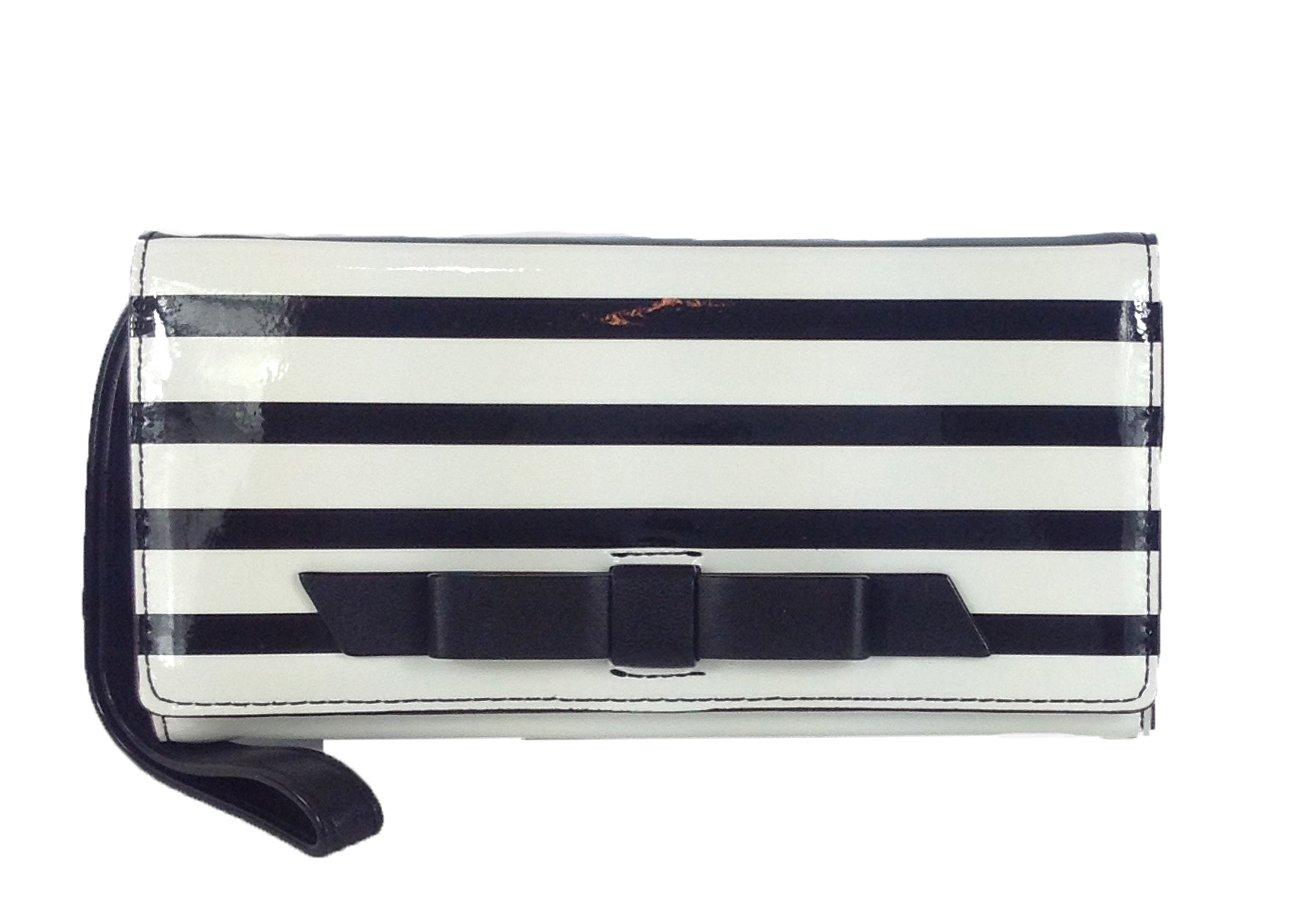 Kate Spade Chelsea Park Striped Mara Wristlet Wallet, Black / Ice by Kate Spade New York (Image #1)