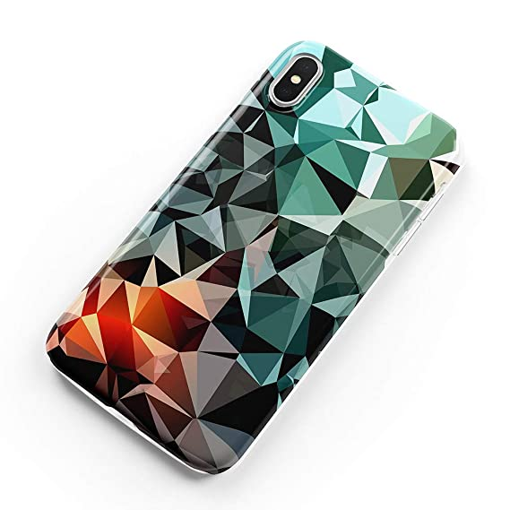 Ucolor Case Compatible Iphone Xs Max Chic Geometric Glossy Slim Soft Tpu Silicone Shockproof Cover Compatible Iphone Xs Max 6 5