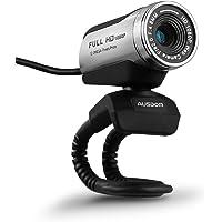 AUSDOM® AW615 12,0 m 1080P USB del HD Webcam con micrófono para ordenador portátil/de escritorio/Skype/MSN, exposición automática, Zoom Digital, clip-Encendido y Freestandin g
