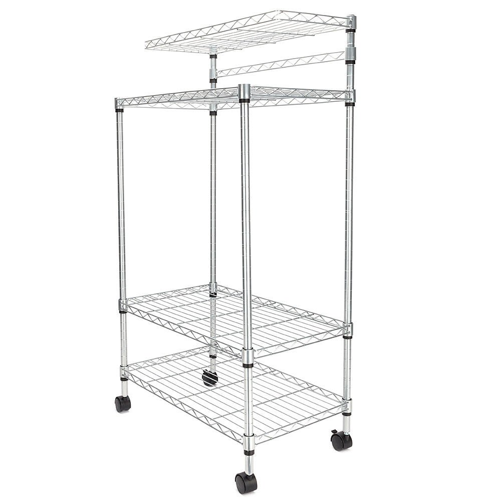 TimmyHouse Adjustable Kitchen Bakers Rack Shelf Microwave Oven Stand Storage Cart 4 Layer