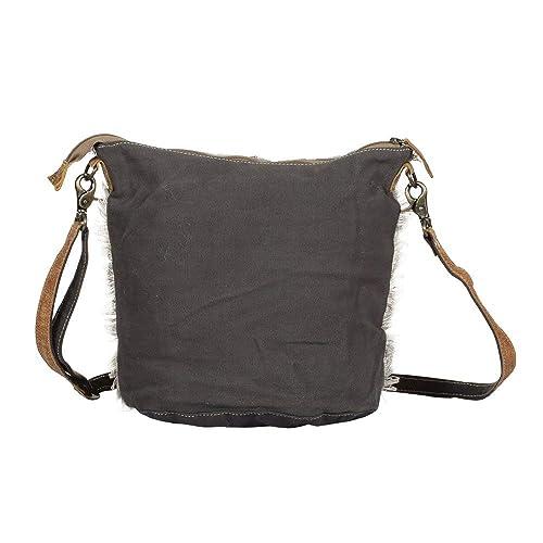Amazon.com: Myra Bag S-1368 - Bolsa de hombro de lona y vaca ...