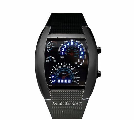 Unisex reloj de los deportes reloj de estilo LED Digital reloj de pulsera Reloj fresco único reloj de moda reloj (black): Amazon.es: Relojes