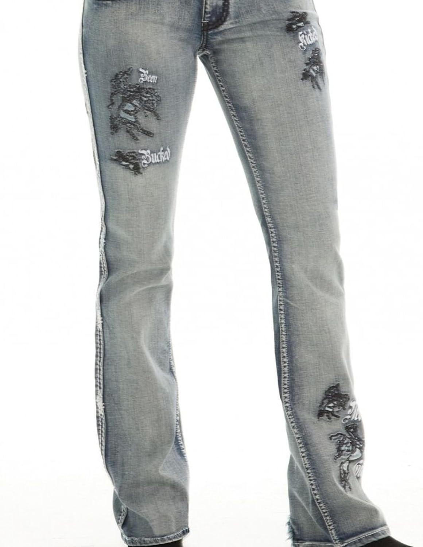 Cowgirl Tuff Western Denim Jeans Womens Buckin UnBELIEVEable II JBUCUL