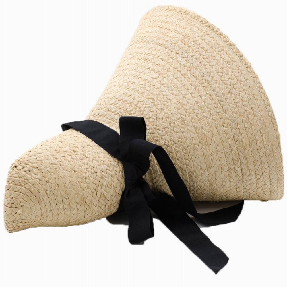 SLR Dames surdimensionnées de Chapeau de Paille voyagent Plage Chapeau décontracté Grand Chapeau de Paille Arc Sauvage