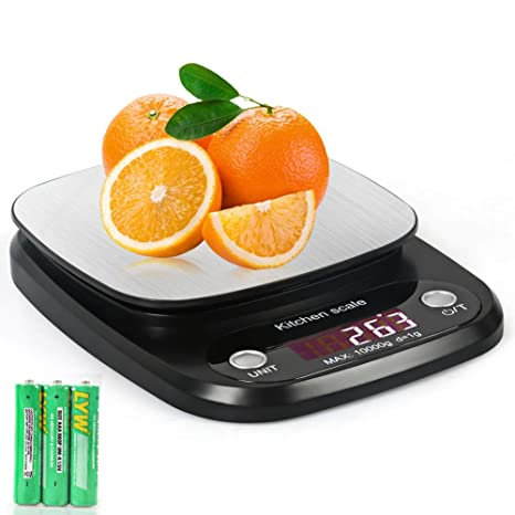 kainuoa Bascula Cocina Báscula Digital Cocina de Acero Inoxidable Balanza de Alimentos Multifuncional de Alta Medicíon