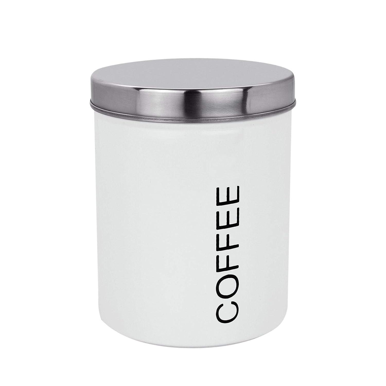 Harbour Housewares Metall-Kaffee-Kanister Wei/ß