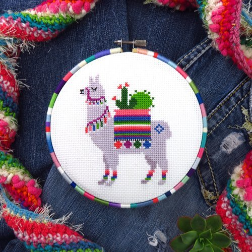 - Llama Cross Stitch Pattern - Chart Only