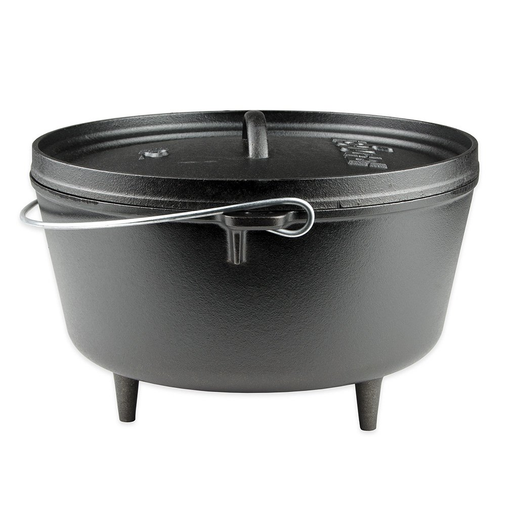 MD Group Dutch Oven Braising Pot 8-qt Preseasoned Cast Iron w/ Flanged Lid Kitchen Cookware