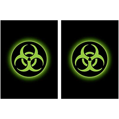 100 Legion Supplies Absolute Iconic Green Biohazard Deck Protector Sleeves: Toys & Games