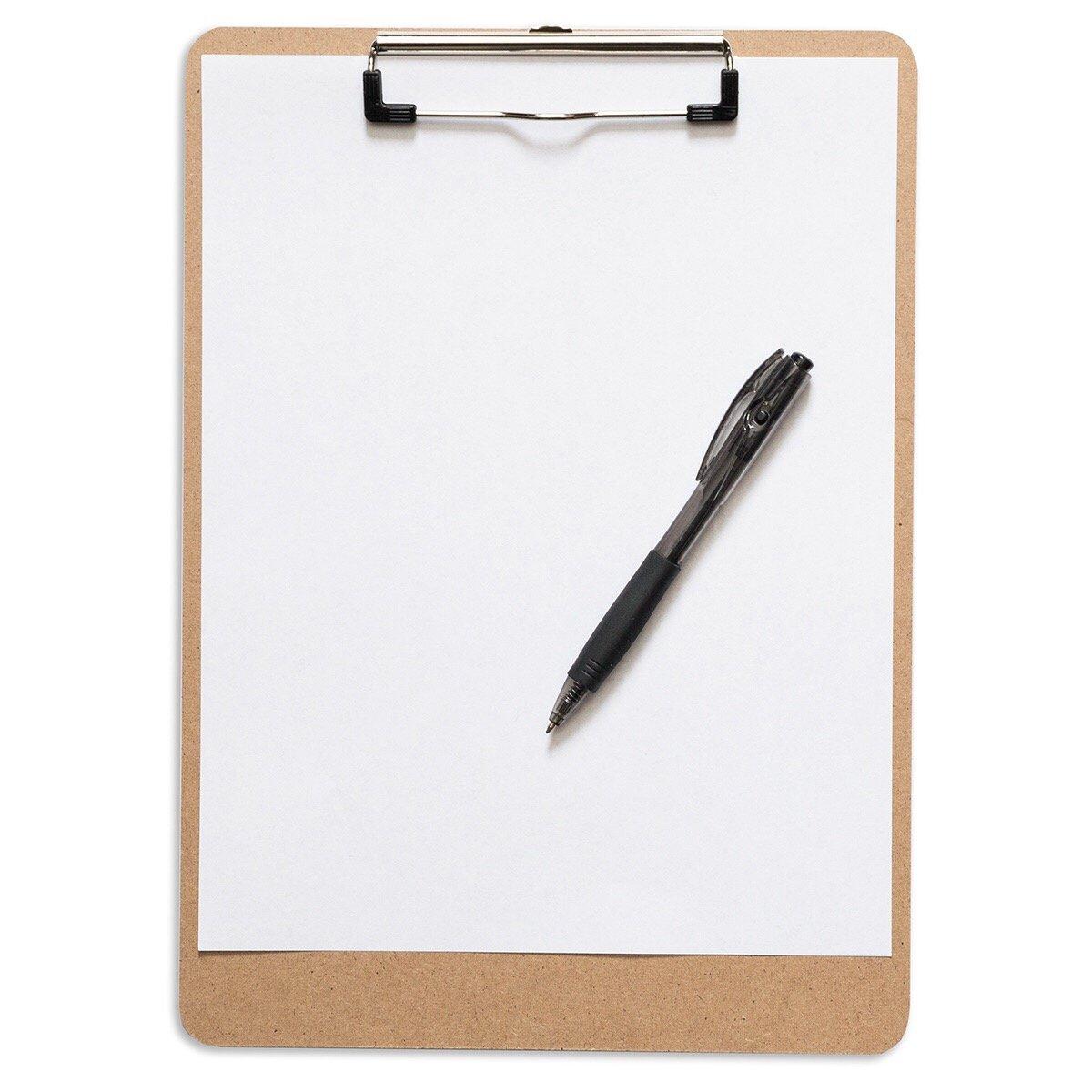 Tavoletta da morsetto profilo basso ideale per ufficio Confezione da 10 aula formato A4 faesite eco-compatibili Portablocco
