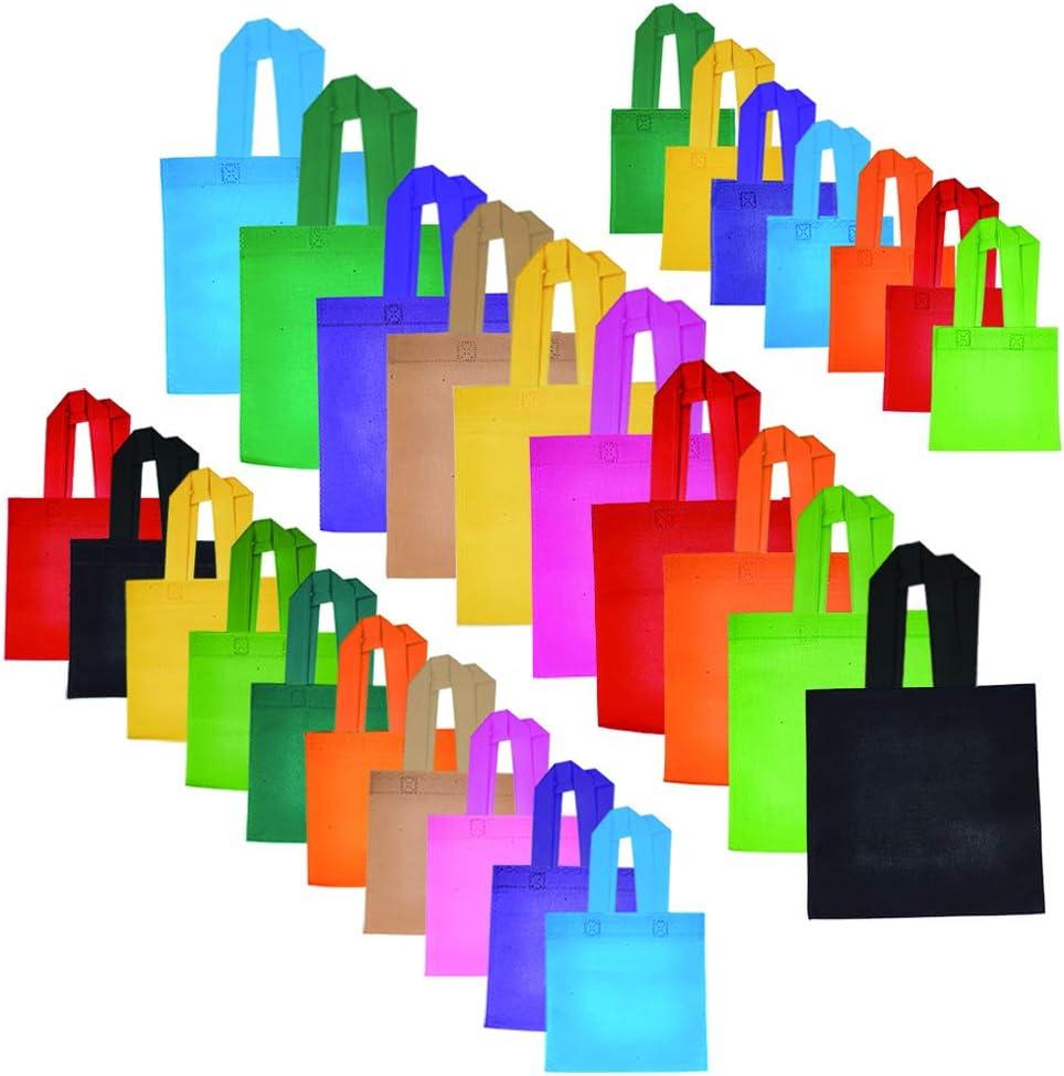 Borse per la Spesa in Tessuto Non Tessuto Borse ecologiche Eco Borse per bomboniere per Artigianato,Decorare Feste di Compleanno per Bambini SUPERDANT 27 Pezzi Borse riutilizzabili 3 Formati