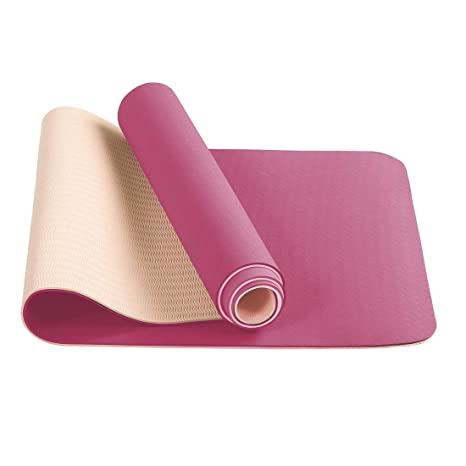 FARLAND The Best Yoga Mat Exercise Mat -Non Slip Yoga Mats with Carrying Strap Lightweight 1/4 Workout Mat ExtraThick Long Exercise Mat,Yoga Mat in ...