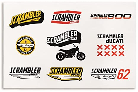 Amazoncom Ducati Scrambler Lifestyle Logo Sticker Decal