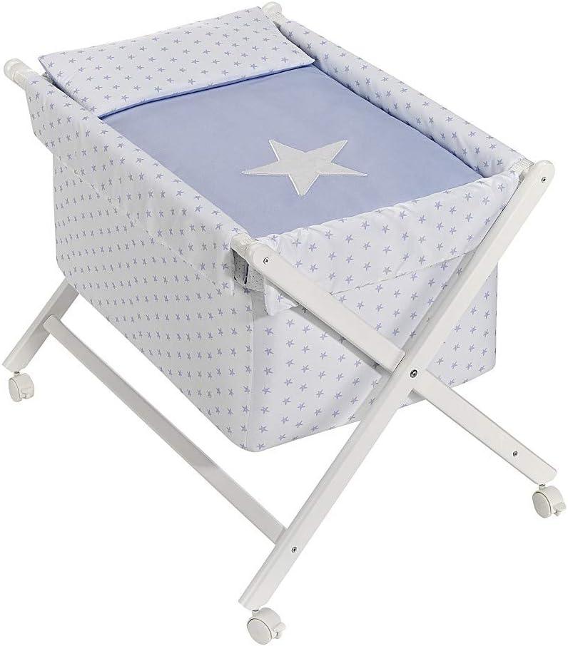 INTERBABY -Minicuna Estrella Azul con Textil: Amazon.es: Bebé