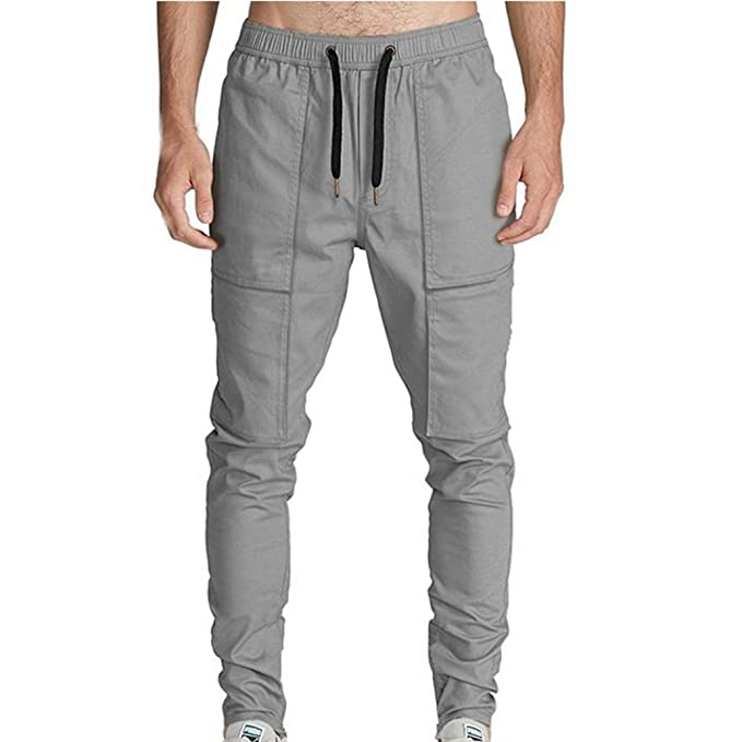 the latest best supplier great quality Easytoy Men's Chino Cargo Pants Slim Fit with Ankle Zipper