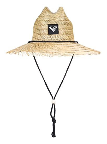 0eb1f5e7dce07 Roxy Womens Tomboy Raw Edge - Straw Lifeguard Hat - Women - S - Black True