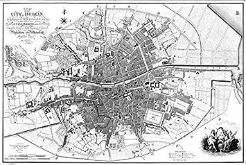 Map Of Dublin 7 Ireland.Amazon Com Imagekind Wall Art Print Entitled Vintage Map Of Dublin