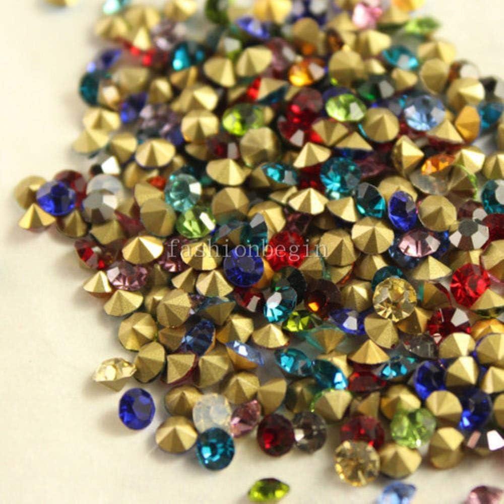 PENVEAT ¡Colores Mezclados! 1440 Unidades/Paquetes Tamaños Mix SS4 SS9 SS6 SS12 SS16 SS22 SS25 SS28 SS30 Strass Volta Point Rhinestone Chaton Glass Stone Mix Size 1440pcs