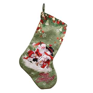 3Stück Weihnachtssocke Nikolaus Nikolausstiefel Socke Strumpf Süßigkeiten Beutel