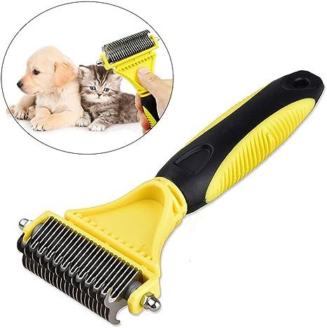 Mascota perro gato largo pelo suelto quitar peine rastrillo cepillo