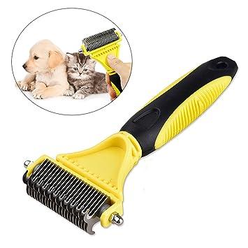 iPetoo Cepillo Peine para Mascotas - Perros Gato Pet Pelo Largo Dematting/Grooming Comb con Doble Cara ...