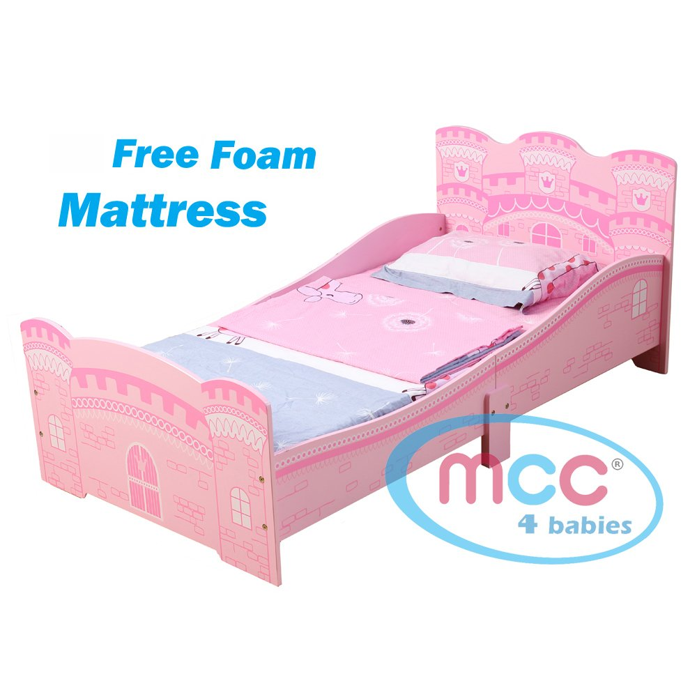 MCC Castle Princess Junior, Toddler, Kids Bed with Luxury Foam Mattress Made in England HPJB01