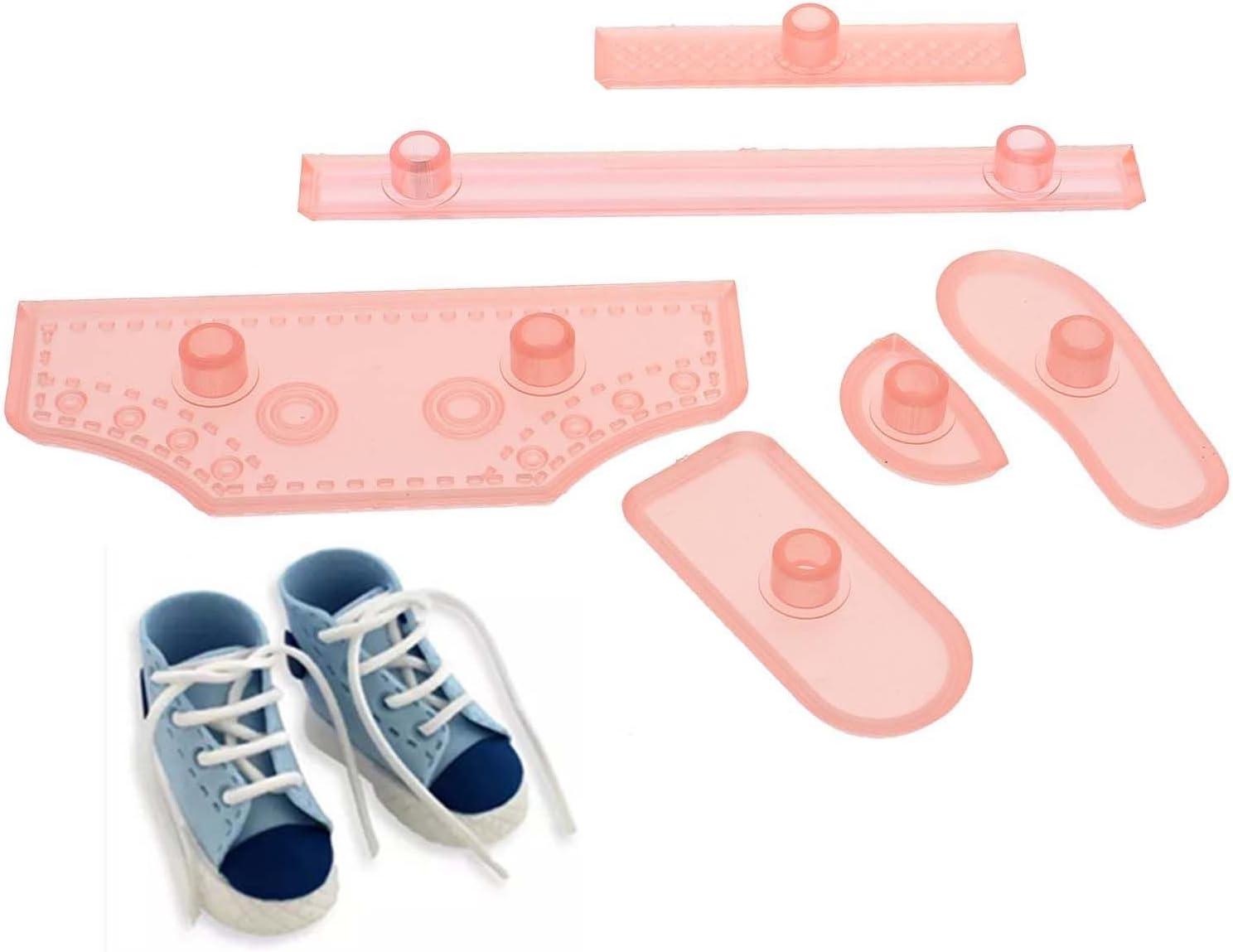 6/St/ück Kuchen/Messer/Schuhe Schuhe/dekorative/Backform/DIY Fertigkeit-Versorgungs
