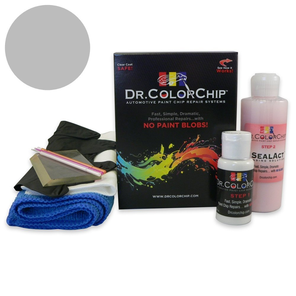 Dr. ColorChip Audi A4 Automobile Paint - Monsoon Gray Metallic LX7R/OC - Squirt-n-Squeegee Kit
