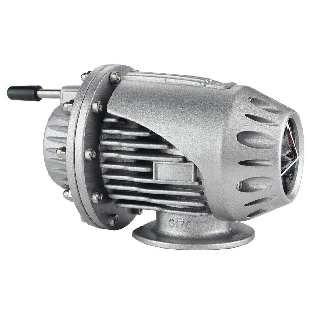 Dewhel Universal BOV SQV 4 SSQV IV Turbo Blow Off Valves JDM W/ 2.5'' Adapter Flange (Silver)